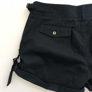 PAUL & JOE Black Cuffed Shorts w/ 4 Pockets
